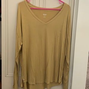 Mossimo mustard yellow flowy top